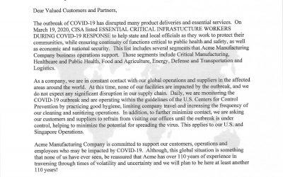 Acme COVID-19 Letter