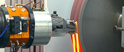 Gate Grind Removal on Abrasive Belt for Knee Implant Casting